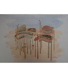 Guache 5, da série Projetos para abrigos no deserto